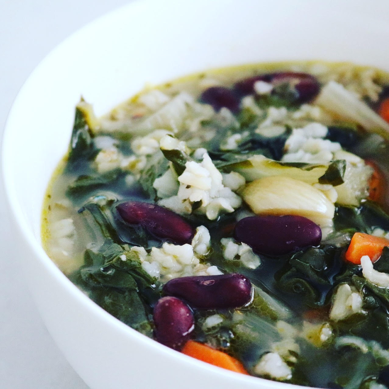 Kidney Bean & Brown Rice Miso Soup