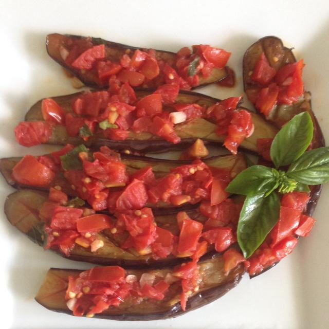 Warm Eggplant Bruschetta