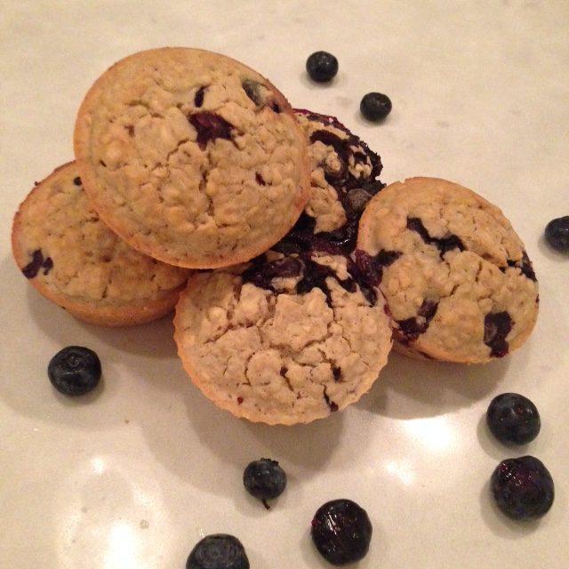 Moist Blueberry Muffins (dairy-free, Gluten-free)