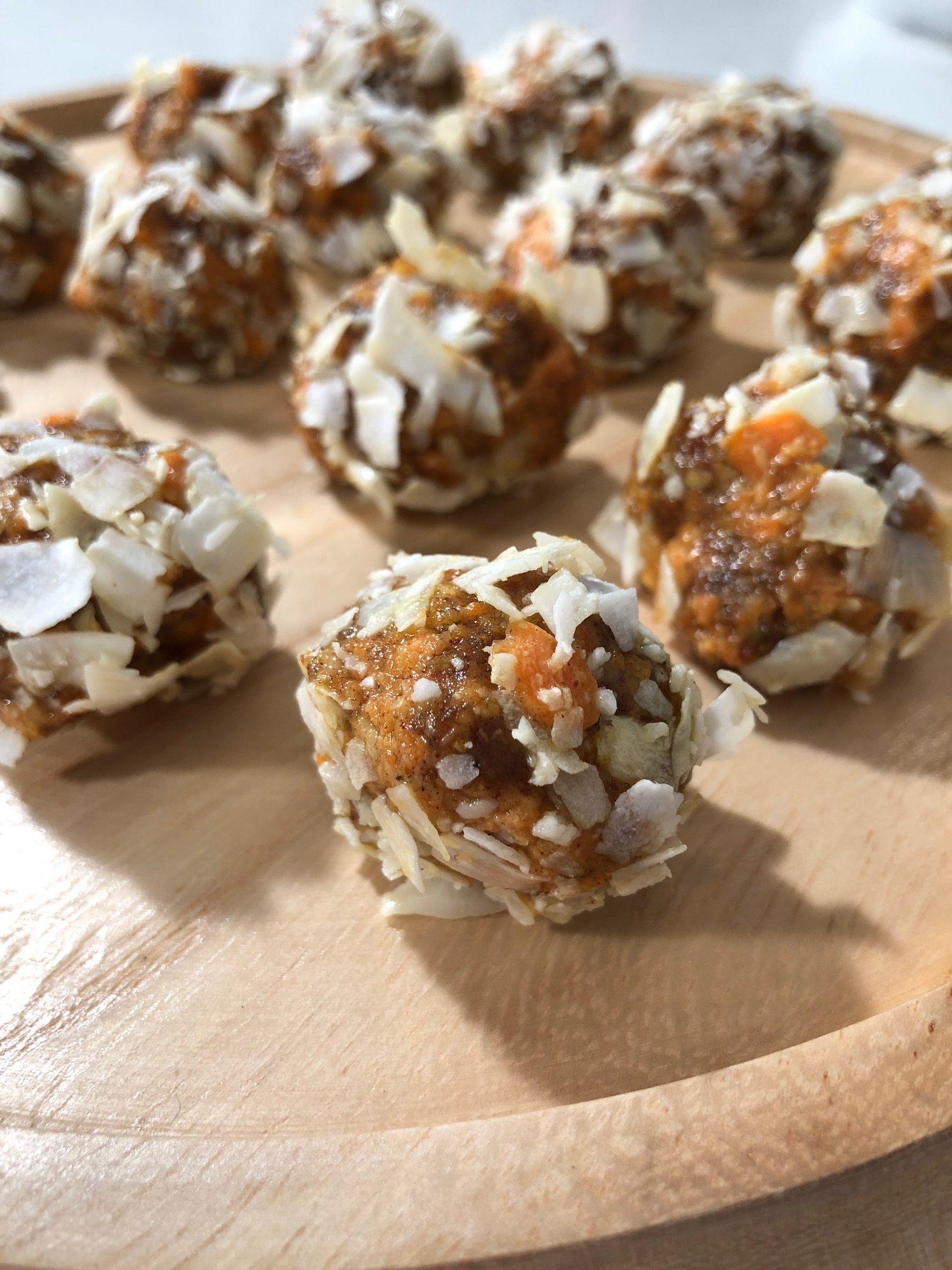 Turmeric Carrot Cake Bites